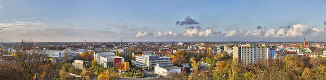 Linii horyzontu panorama Berlin Obrazy Stock