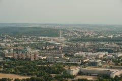 Linii horyzontu widok z lotu ptaka - miasto krajobraz Zdjęcia Stock
