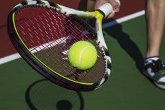 linii końcowej forehanda plasterka tenis Fotografia Stock