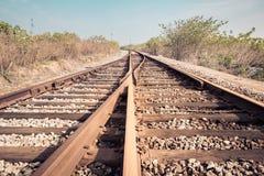 Linii kolejowej frekwenci zbliżenie Obraz Stock