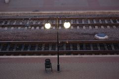 linii kolejowej iść Zdjęcie Royalty Free