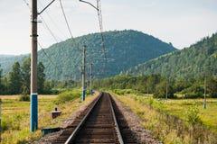 Linii kolejowej infrastruktura Obraz Royalty Free