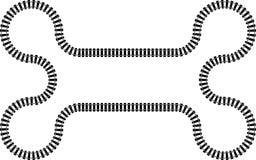 Linii kolejowej kolej w ciągłym wav wzorze Zdjęcia Stock