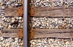 linii kolejowej krawatów ślad Obrazy Royalty Free