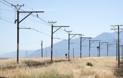 Linii kolejowej omijanie przez wsi Południowa Afryka Obraz Stock