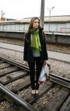 linii kolejowej podróżowanie obraz royalty free