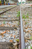 Linii kolejowej podróż przez staci kolejowej Obrazy Stock