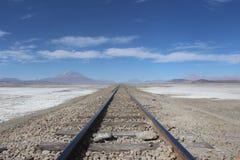 Linii kolejowej pustynia atacama bolÃvia Zdjęcie Stock