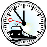 linii kolejowej reguły czas Zdjęcie Royalty Free