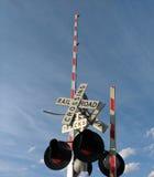 Linii kolejowej skrzyżowanie Obraz Stock