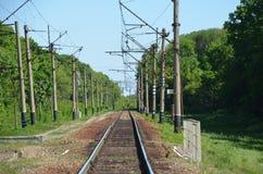 Linii kolejowej skrzy?owanie zdjęcie royalty free