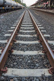 Linii kolejowej stacja Obrazy Royalty Free