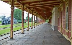 Linii kolejowej stara stacja Obraz Stock