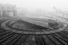 Linii kolejowej turntable Fotografia Stock