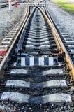 Linii kolejowej złącze Zdjęcia Stock