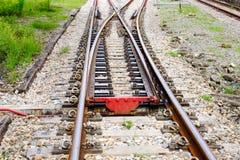 Linii kolejowej złącze Fotografia Royalty Free