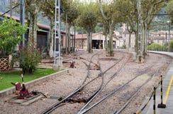 Linii kolejowej zajezdnia w Palmie Obrazy Royalty Free