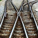 linii kolejowej zmiana Obraz Royalty Free