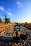 Linii kolejowej zmiana Fotografia Stock