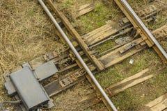 Linii kolejowej zmiana Fotografia Royalty Free