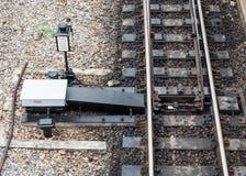 Linii kolejowej zmiana Zdjęcia Stock