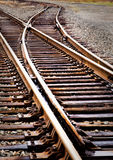 linii kolejowej zmiany ślad Zdjęcia Stock
