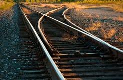 linii kolejowej zmiany ślad Fotografia Royalty Free
