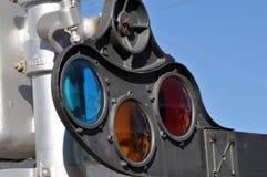Linii kolejowych światła Zdjęcie Royalty Free