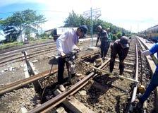 Linii kolejowych naprawy Zdjęcie Royalty Free