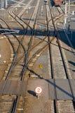 linii kolejowych zmiany Zdjęcia Stock