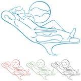 linii lotniczej klasy pierwszy pasażer ilustracja wektor