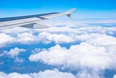 linii lotniczej skrzydło Fotografia Royalty Free