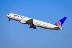 767 linii lotniczych Boeing jednoczący Obrazy Royalty Free