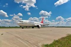737 linii lotniczych Boeing turkish Obraz Royalty Free
