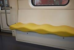 Linii 1 metra siedzenia Zdjęcia Stock