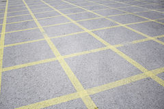 Linii parkować Zdjęcia Stock