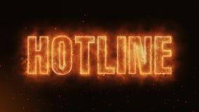 Linii specjalnej słowo Pali Realistycznych Pożarniczych płomienie Iskrzy ciągłego płynnie lop ilustracja wektor