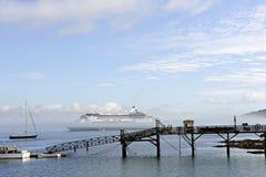 liniowa mgły ranek ocean Fotografia Stock