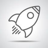 Liniowa rakietowa ikona Fotografia Stock