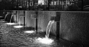Liniowe fontanny Fotografia Royalty Free