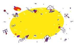 Liniowe ikony technologie informacyjne Nowożytny liniowy grafiki st Zdjęcia Stock