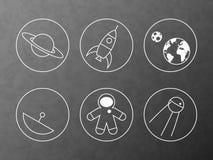 Liniowe ikony ustawiać Obrazy Stock
