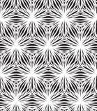 Liniowi wzoru, białych i czarnych trójboki, royalty ilustracja