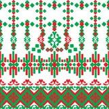Liniowy bezszwowy ornament Obrazy Stock