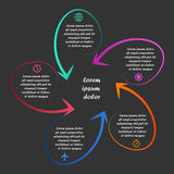 Liniowy infographics Fotografia Royalty Free