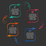 Liniowy infographics Obraz Royalty Free
