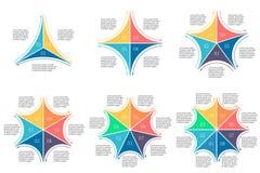 Liniowy infographics set Diagramy dla prezentaci Obrazy Royalty Free