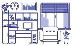 Liniowy wewnętrzny projekt ilustracja wektor