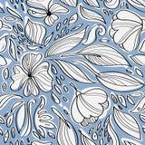 Linjär blom- sömlös modell Royaltyfri Foto