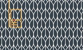 Linjär geometrisk vektormodell och att upprepa det linjära bandet för kurva eller den abstrakta lotusblommablomman diagrammet är  vektor illustrationer